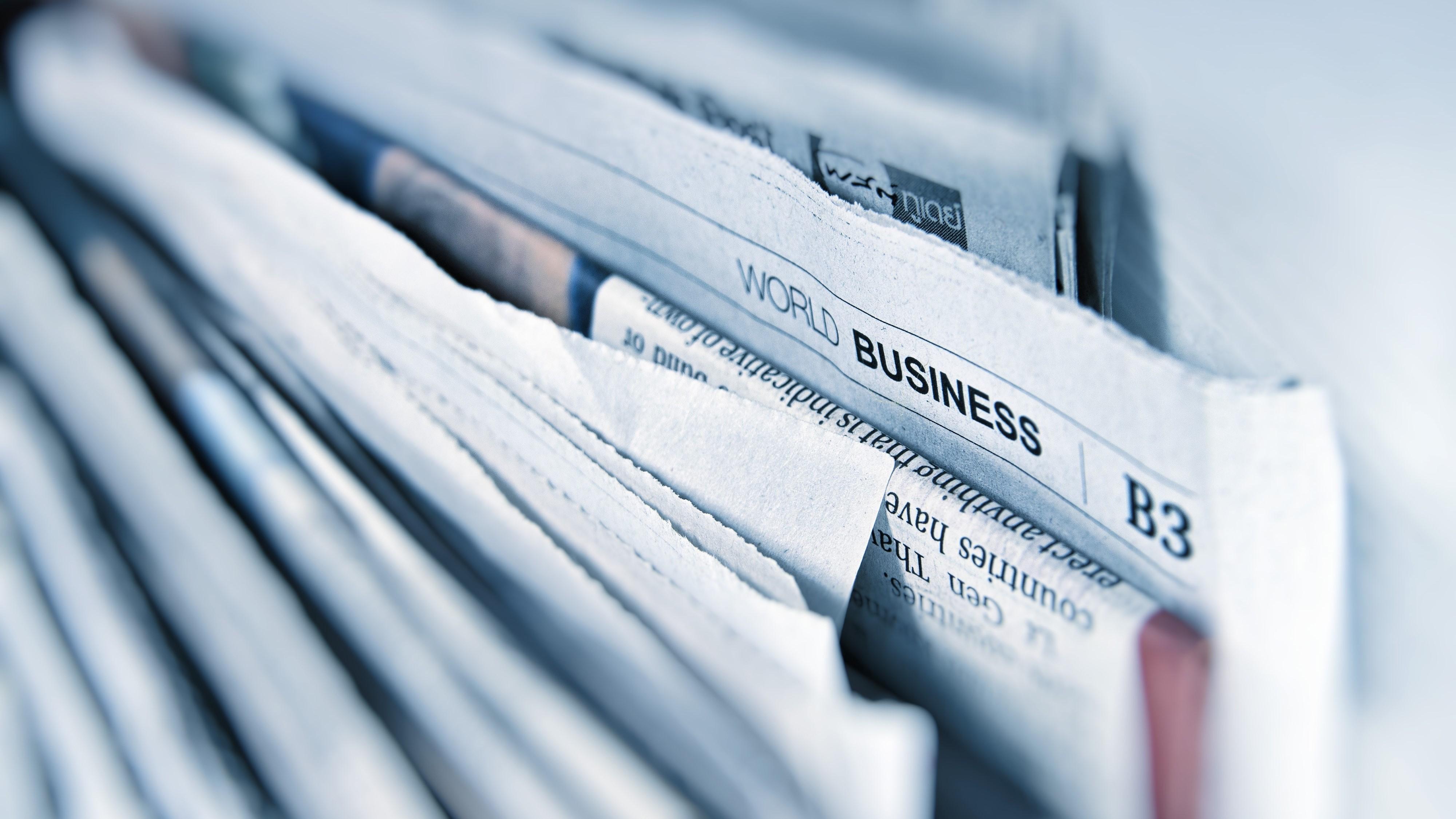 Tidningar i bunt