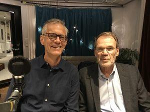 johan schaar och johan von schreeb podcastgäster i avsnitt 10 sitter i studion