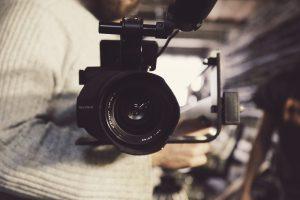 Närbild på en kameralins